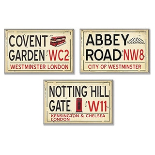 London Railroad Wall Plaque Set