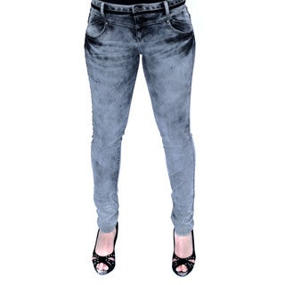 Juniors' Marble Wash Pointe Denim