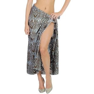 La Leela Hawaiian Dress Skirt Plus Beach Women Sarong Coverup 72X42 Inch Brown