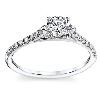14k White Gold 3/5ct TDW Round Diamond Engagement Ring