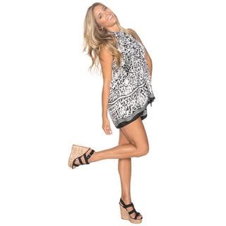 La Leela Super Soft Likre Modern Art Beach Bikini Sarong Pareo 72X42 Inch Emo Black