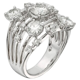 Moissanite by Charles & Colvard 14k White Gold 3.13 TGW Galaxy Fashion Ring