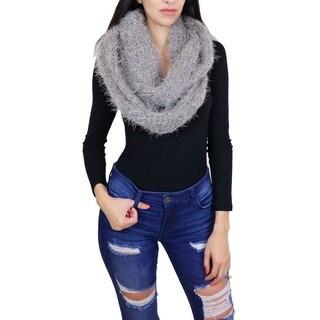 LA77 Fuzzy Knit Infinity Scarf