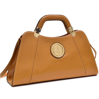 Link to Dasein Emblem Deep Gloss Hinge Handle Removable Shoulder Strap Bag Similar Items in Shop By Style