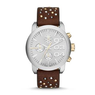 Diesel Women's DZ5433 Flare Chronograph Studded Leather Watch