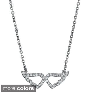 Decadence Sterling Silver Cubic Zirconia Wings Necklace