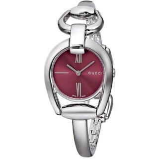 Gucci Women's YA139502 'Horsebit' Swiss Quartz Stainless Steel Bangle Watch