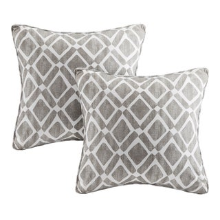 Madison Park Ella Printed Grey 20-inch Pillows (Set of 2)