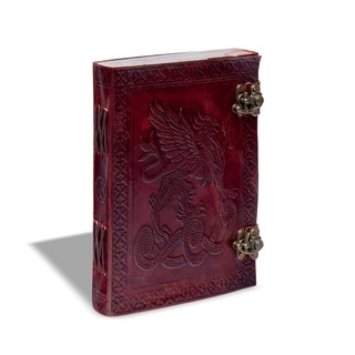 Sitara Handmade Burgundy Leather Double Latch Journal (India)
