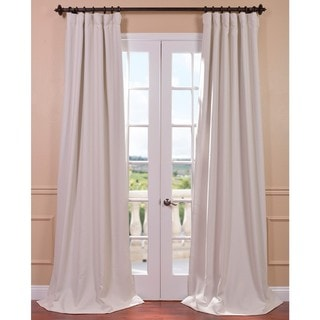 Link to Exclusive Fabrics Cottage Single Panel Blackout Curtain 84' in White (As Is Item) Similar Items in As Is