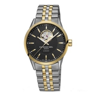 Raymond Weil Men's 2710-STP-20021 'Freelancer' Auotomatic Black Dial Two Tone Stainless Steel Watch
