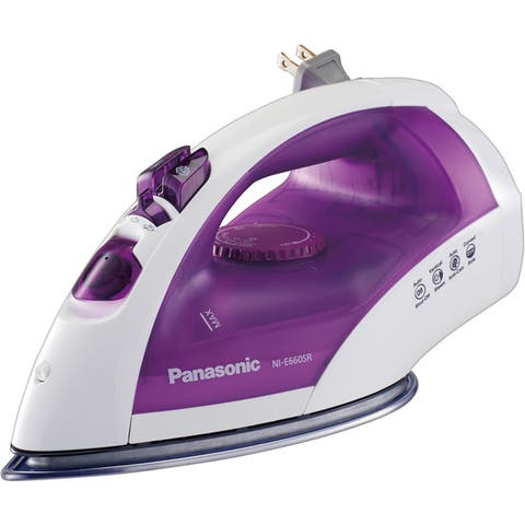 Panasonic NI-E660SR Steam Circulating Iron with Curved Non-Stick Stainless Steel Soleplate