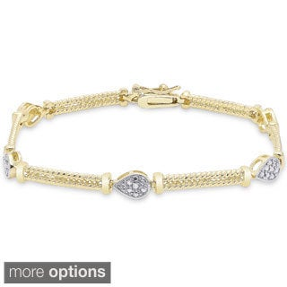 Finesque Sterling Silver Diamond Accent Bracelet