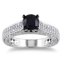 Miadora Sterling Silver Spinel and Sapphire Engagement Style Ring