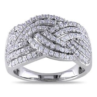 Miadora Sterling Silver Cubic Zirconia Fashion Ring