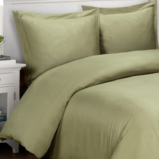 Superior 500 Thread Count Cotton Sateen Duvet Cover Set