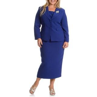 Giovanna Signature Women's Plus Size 2-piece Skirt Suit
