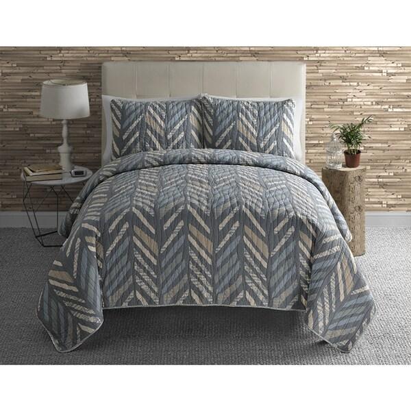 VCNY Jasper Reversible 3-piece Quilt Set
