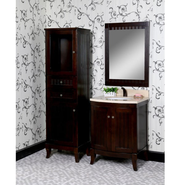 27 Inch Bathroom Vanities: Shop Bellagio 4-piece 27-inch Beige Marble Top Single Sink