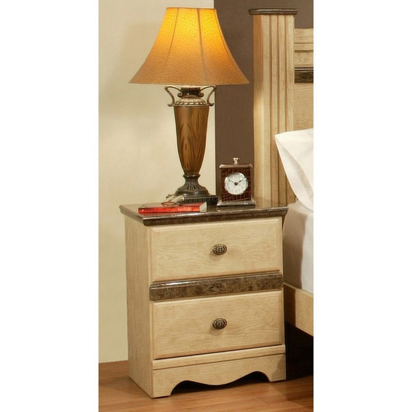 Sandberg Furniture Casa Blanca 2 Drawer Nightstand