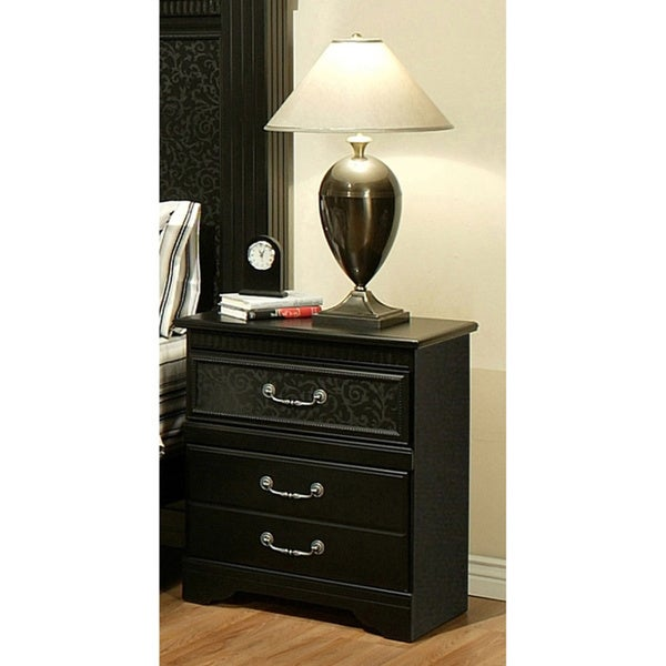Shop Sandberg Furniture Granada 3 drawer Nightstand   Free
