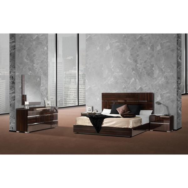 modrest picasso modern ebony lacquer bedroom set free shipping today