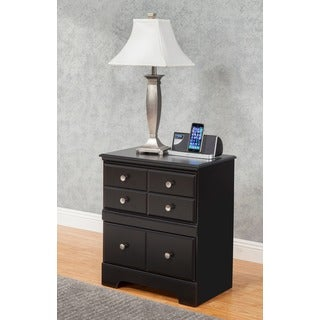 Sandberg Furniture Elena Black 2-drawer Nightstand