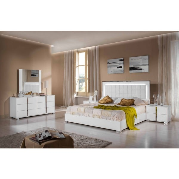 modrest san marino modern white bedroom set free shipping today