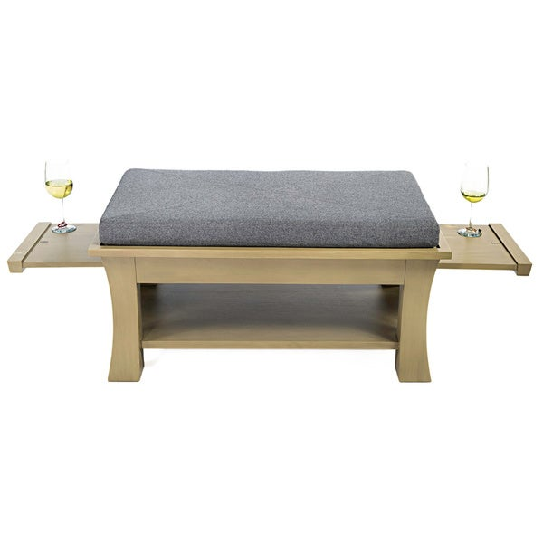 Label 23 Dolton Grey Pull Out Shelf Ottoman Cocktail Table Free Shipping Today Overstock