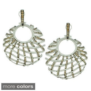 Suzy Levian Sterling Silver White Cubic Zirconia Criss-cross Round Big Dangle Earrings|https://ak1.ostkcdn.com/images/products/9765811/P16936486.jpg?_ostk_perf_=percv&impolicy=medium