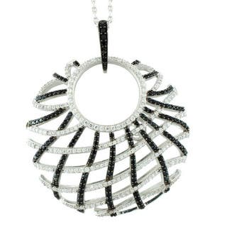 Suzy Levian Sterling Silver Cubic Zirconia Criss-cross Pendant Necklace|https://ak1.ostkcdn.com/images/products/9765813/P16936487.jpg?impolicy=medium