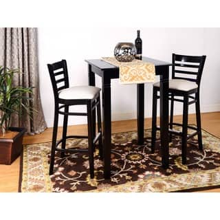 Buy bar pub table sets online at overstock our best dining ladder back 3 piece bar set watchthetrailerfo
