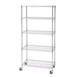 Seville 5-shelf UltraZinc Wire 18x36x72 Shelving System