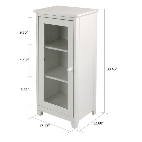 Amazing 3 Shelf Glass Door Folding Cabinet   Free Shipping Today   Overstock.com    16936516