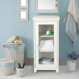 3-shelf Glass Door Folding Cabinet