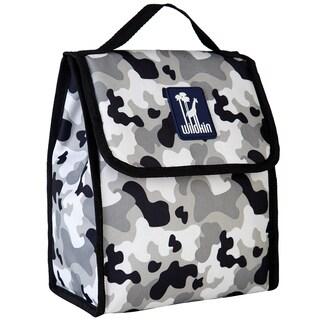 Wildkin Gray Camo Lunch Bag