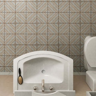 SomerTile 7.75x7.75-inch Puccini Matrix Ceramic Floor and Wall Tile (Case of 25)