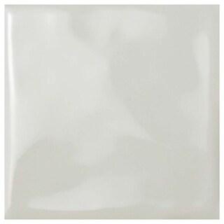 SomerTile 3.75x3.75-inch Curve Square Soft Cream Ceramic Wall Tile (9 tiles/1 sqft.)