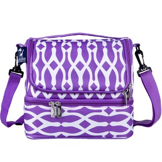 Wildkin Purple/ White Bone Double Decker Lunch Bag