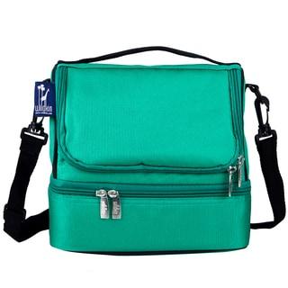 Wildkin Emerald Green Double Decker Lunch Bag