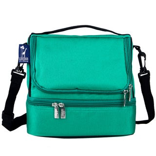 Wildkin Emerald Green Double Decker Lunch Bag
