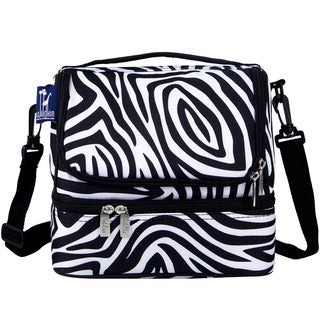 Wildkin Zebra Two Compartment Lunch Bag