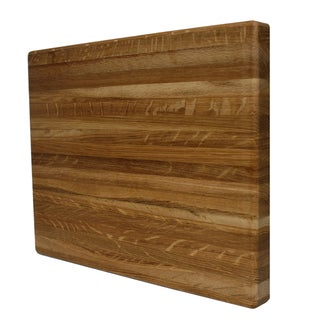 Kobi Blocks Premium White Oak Edge Grain Rectangle Butcher Block 1-inch Thick Cutting Board