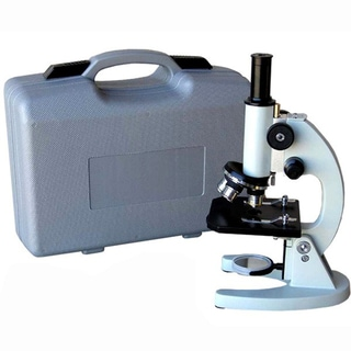 AmScope 40x-640x Metal Body Glass Lens Biology Student Microscope with ABS Case
