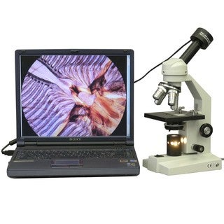 AmScope 40x-1000x Student Monocular Compound Microscope with USB Camera