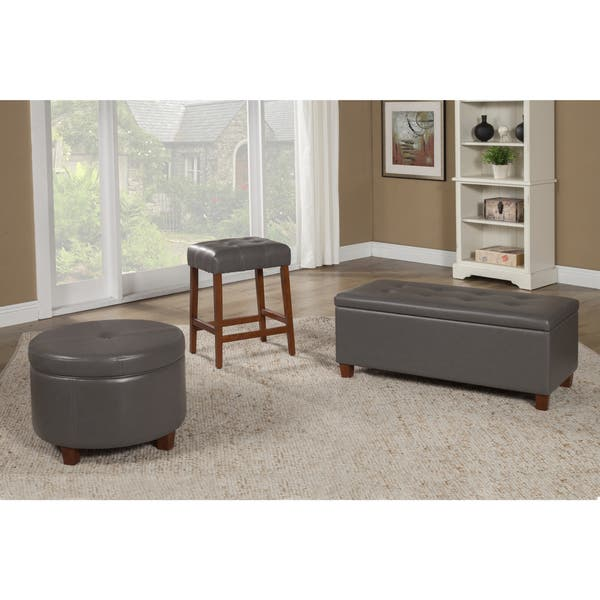 Cool Shop Porch Den Rockwell Charcoal Grey Leatherette Round Ibusinesslaw Wood Chair Design Ideas Ibusinesslaworg