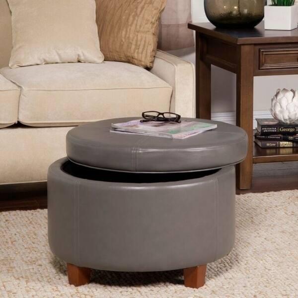 Super Shop Porch Den Rockwell Charcoal Grey Leatherette Round Ibusinesslaw Wood Chair Design Ideas Ibusinesslaworg
