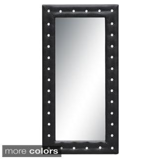 Tufted Floor Mirror