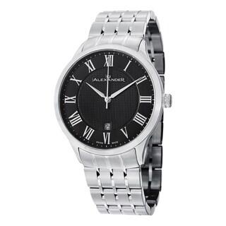 Alexander Men's A103B-02 'Triumph' Black Dial Stainless Steel Bracelet Swiss Quartz Statesman Watch
