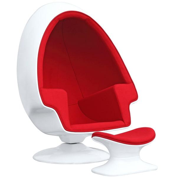 Shop Alpha Egg Chair And Ottoman Overstock 9766226